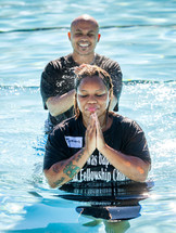 adult baptism in water