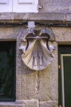 shell sculpture in Santiage de compostella