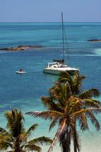 catamaran in the ocean along the coast of Mexico