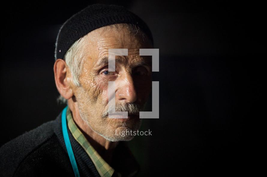 Elderly muslim man