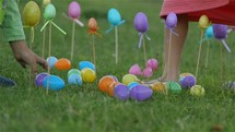 children gathering Easter eggs