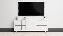 television and tv stand