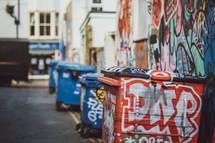 graffiti covered