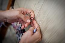 Carpet weaver, Muslim woman, Turkish carpet