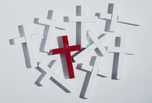 white and red crosses