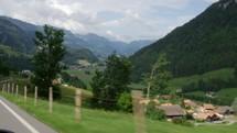 Switzerland valley and village