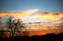 sky at sunrise in Africa