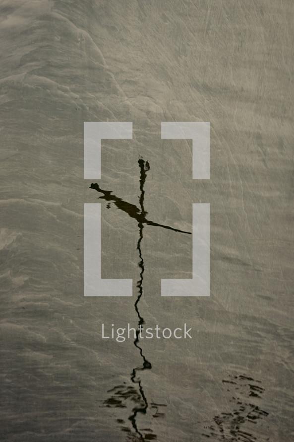 cross reflection in water
