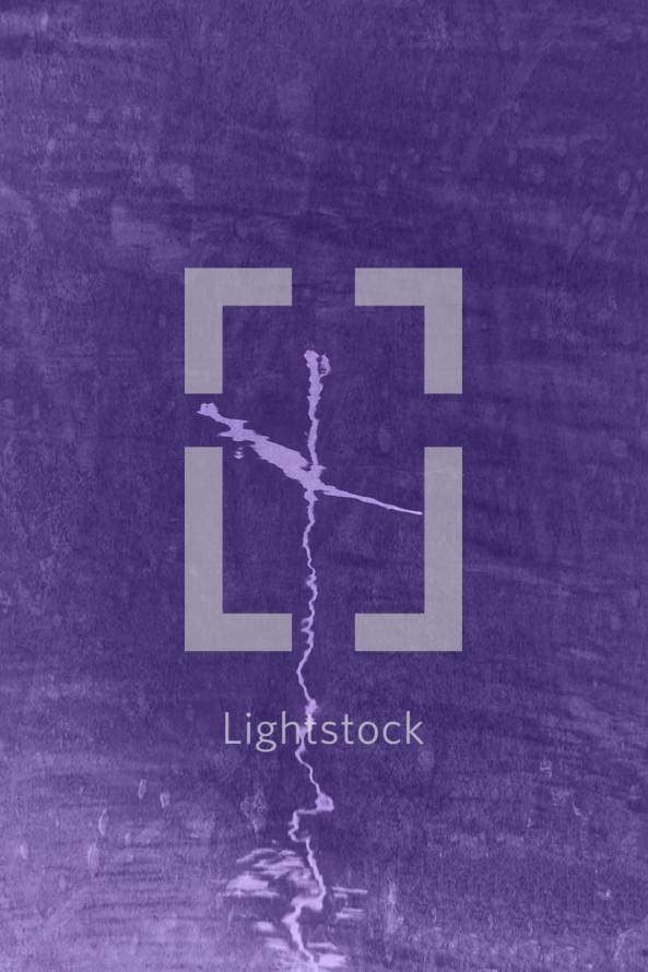 cross reflection on purple