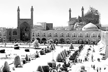 old square and mosque in Iran