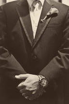 Man in tuxedo suit