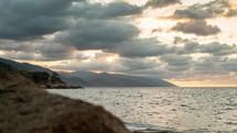 Puerto Vallarta shore at sunset