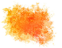 splotch of orange watercolor