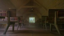 interior of an old empty chapel