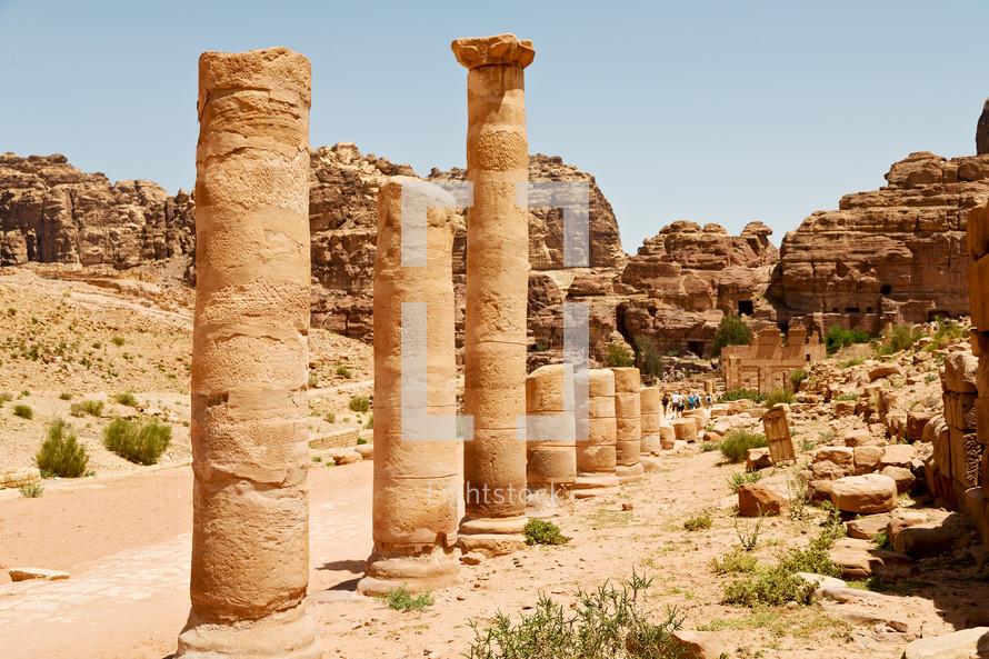 columns at a ruins