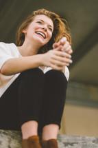 face of a joyful woman