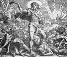 Samson slays the Philistines, Judges, 15:16