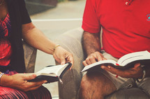 couple reading Bibles together