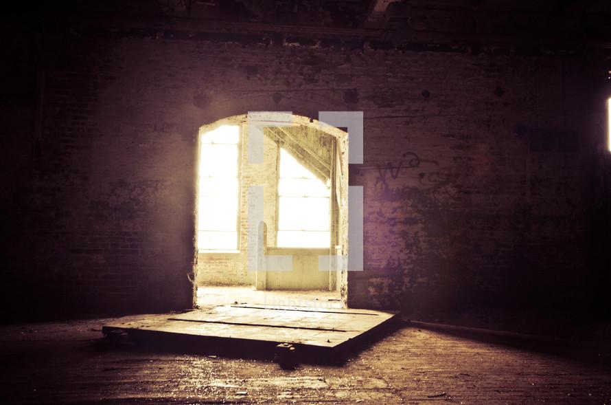 Inside abandoned building