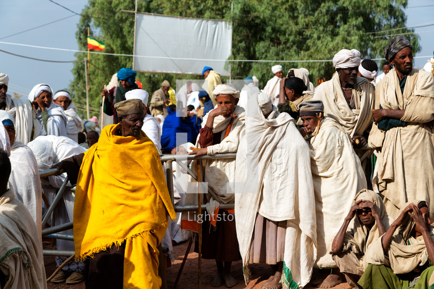 crowds of people at a celebration in Ethiopia