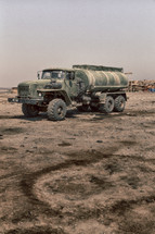 military truck in Africa