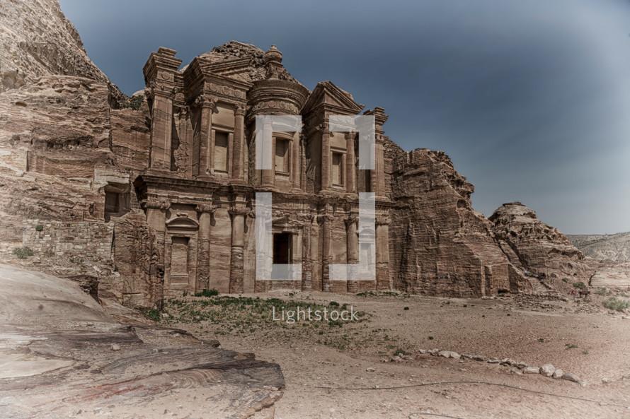 site of petra in jordan the monastery