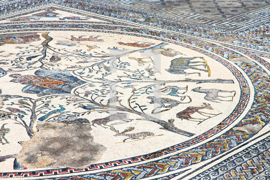 roof tile mosaic in Morocco