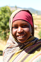 a girl in Ethiopia