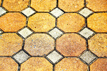 abstract octagon tiles