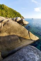 stone shore in Kho Bay Thailand