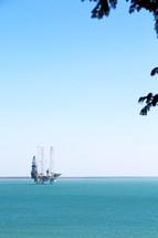 oil rig platform in the ocean