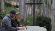 couple studying a Bible together