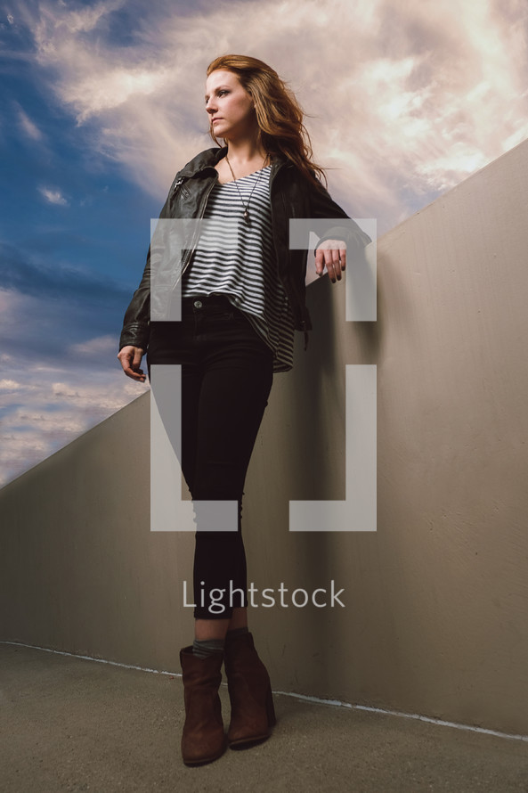 portrait of a young woman model