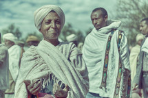 a woman at a celebration in Ethiopia