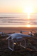 a drone on a beach