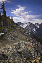 Silver Lake Pass in the Olympic mountains.