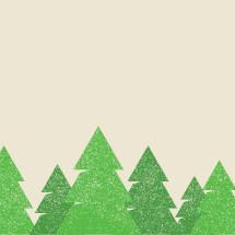 green trees border