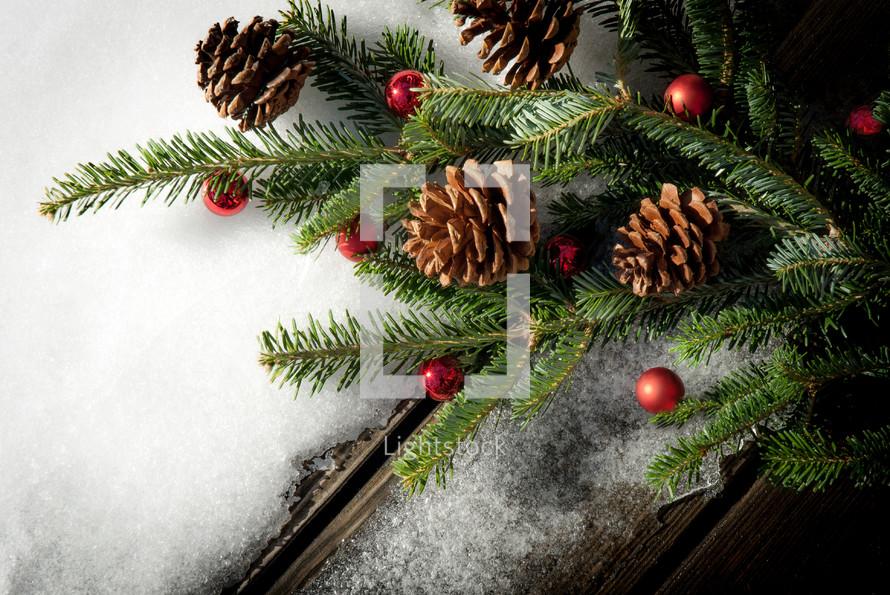 Christmas Card scene