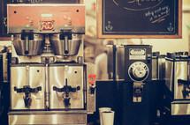 expresso machine in a coffee shop