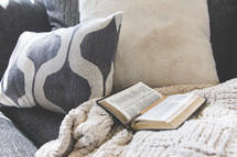 Bible on a couch