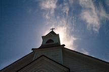 church and blue sky