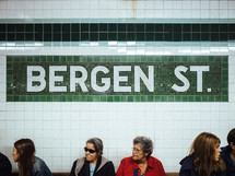 Bergen st sign in a subway