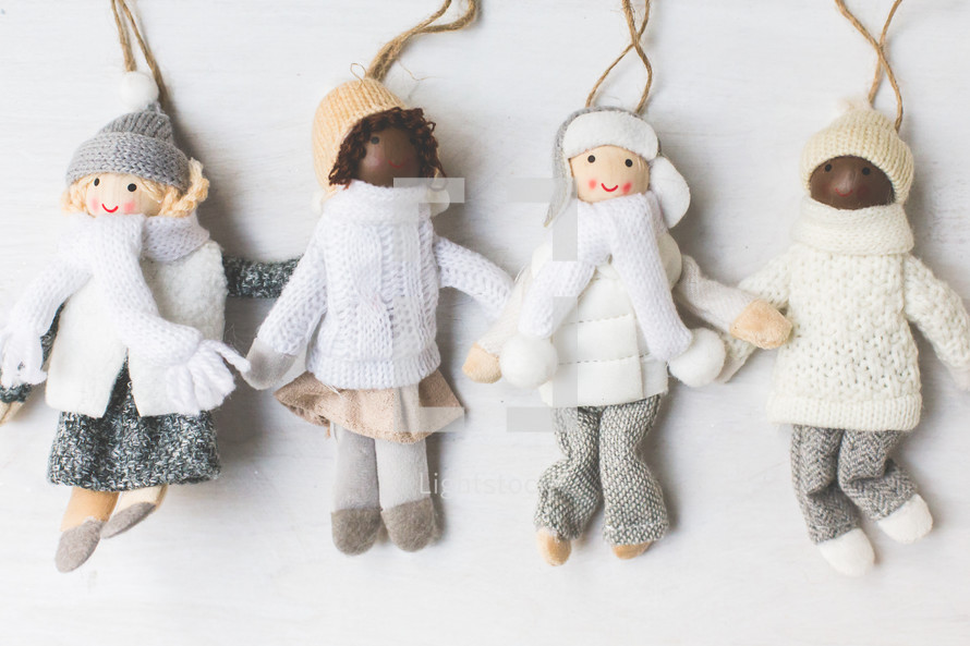 knit Christmas ornaments