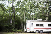 parked RV for camping
