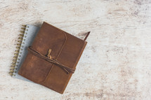 leather bound Bible and journal