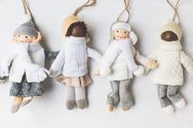 knit Christmas ornaments