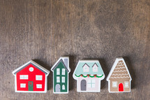 wooden Christmas houses