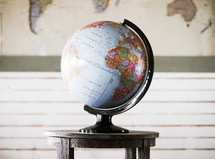 globe on a table