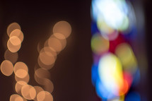 bokek lights and bokeh stained glass window