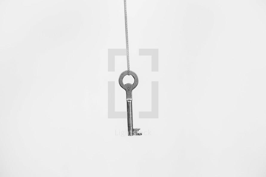 skeleton key on a chain